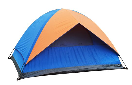 blue Tent on the white background