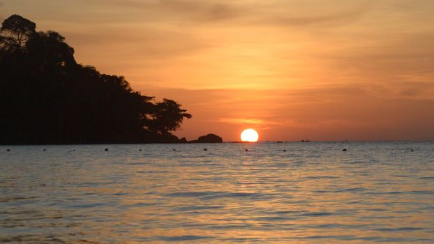 Sunset on the beach. Koh Chang,Thailand
