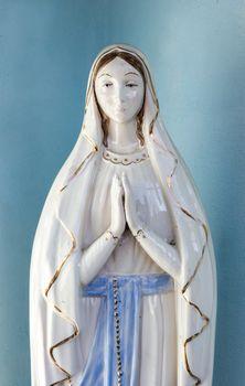 Our Lady vintage porcelain statue