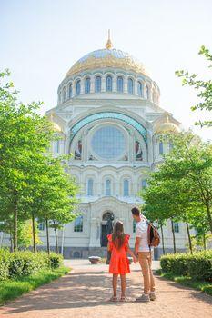 Naval Cathedral of Saint Nicholas in Kronstadt near Saint-Petersburg