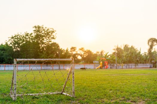 Football gate in the field
