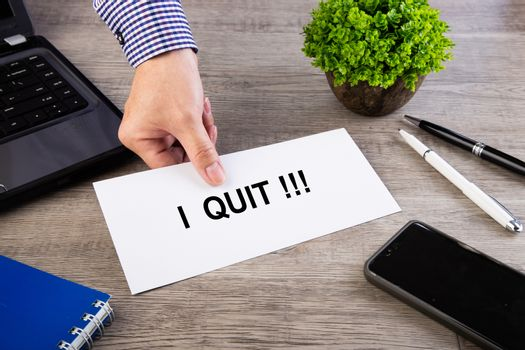 Employee submit or sending resignation letter
