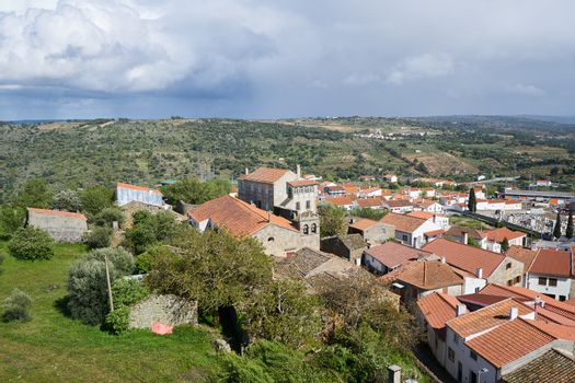 Pinhel castle view in Portugal