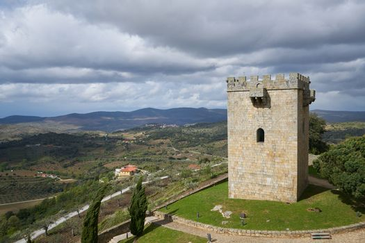 Pinhel castle tower in Portugal