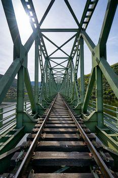 Railway bridge in Douro region in Ferradosa, Portugal