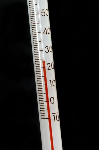 A red liquid thermometer