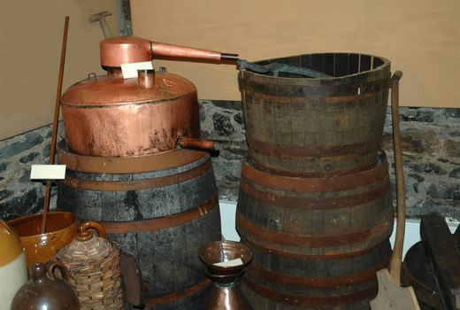 homemade whisky still