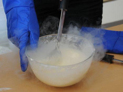 Making Ice cream using Liquid Nitrogen