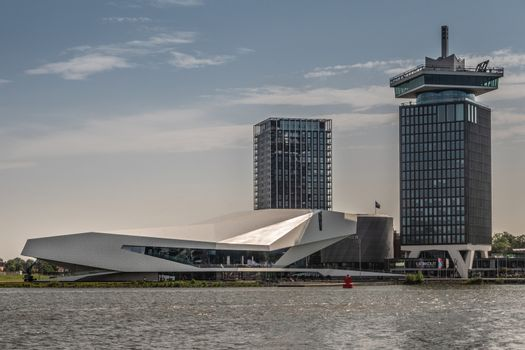 Eye Film Museum and A'Dam Lookout tower, Amsterdam Netherlands.