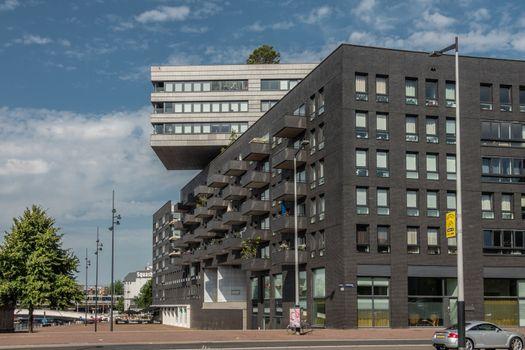 Modern office building complex on Westerdokplein, Amsterdam Neth
