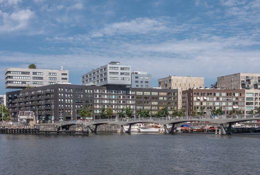 Modern office buildings on Westerdoksdijk, Amsterdam Netherlands
