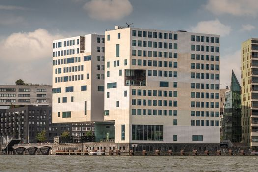 Justice Palace on IJdok in Amsterdam Netherlands.
