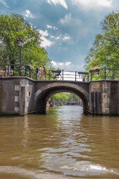Canal bridges in Amsterdam Netherlands.