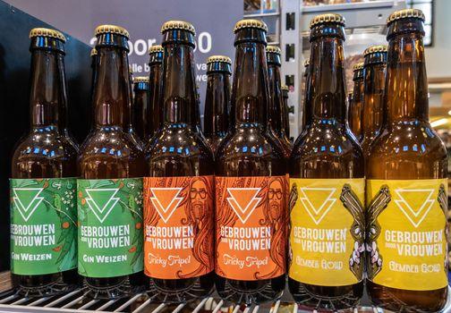 Gebrouwen-Door-Vrouwen beer bottles in Amsterdam Netherlands.