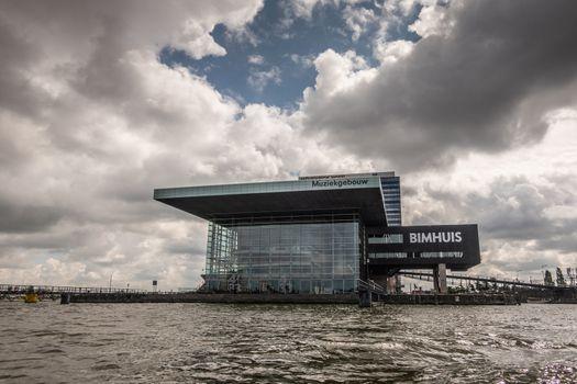 Muziekgebouw and Bimhuis in IJ in Amsterdam, the Netherlands.