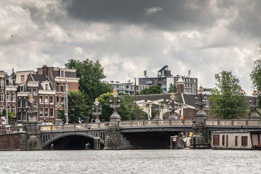 Blauwbrug over Amstel river in Amsterdam, the Netherlands.