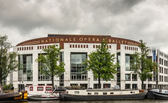 Nationale Opera and Ballet theater downtown Amsterdam, the Nethe