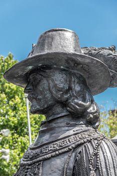 Willem van Ruytenburgh statue on Rembrandtplein, Amsterdam, the