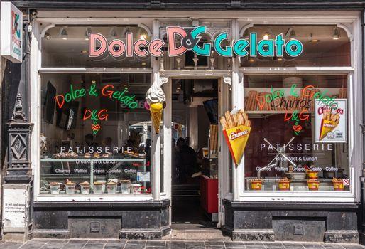 Gelato shop in Amsterdam, the Netherlands.