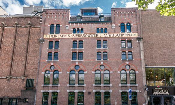 Historic Heineken brewery in Amsterdam, the Netherlands.