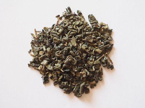 loose green gunpowder tea