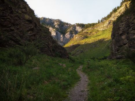 Beauty day in the mountains in Altay. place is called - Spirit Gorge.