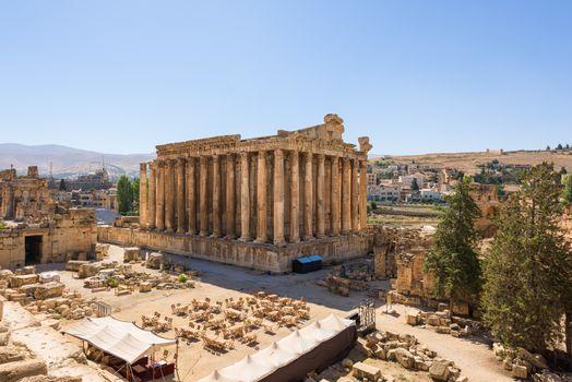 Near intact temple of Bacchus, Baalbek heritage site, Lebanon