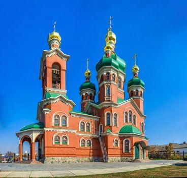 Talne, Ukraine 10.19.2019. Ukrainian Orthodox St Peter and Paul Church of the Kyiv Patriarchate in Talne, Ukraine