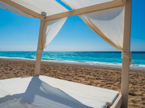 Canopy at the beach in Lefkas