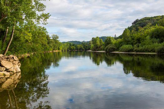 River dordogne in aquitaine