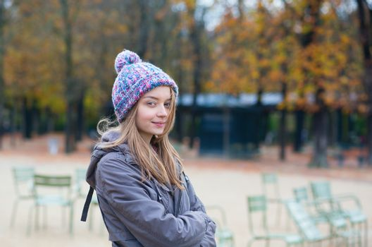 Parisian girl in the Gardens of Luxembourg