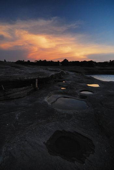 Unseen Sunset at rock holes Stone View Sam Pan Bok Grand Canyon, Ubon ratchathani, Northeast of Thailand