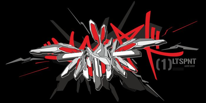 Abstract Word Slam Graffiti Style Font Lettering Vector Illustration
