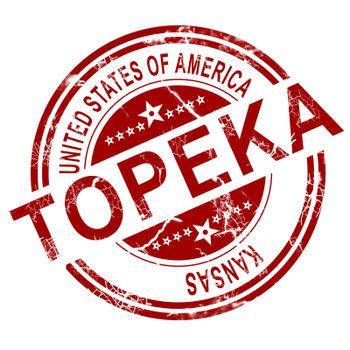 Topeka stamp with white background