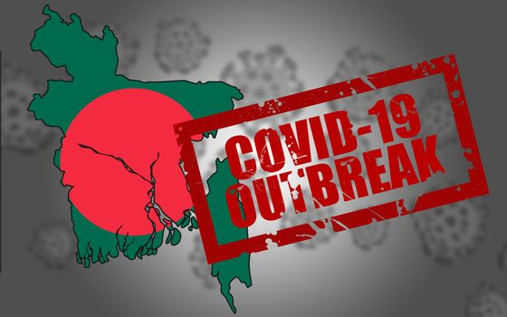 Covid-19 virus outbreak in Bangladesh, 3d rendering