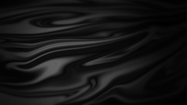 Black abstract fluid background with copy space