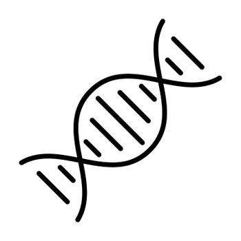 DNA vector icon. Medicine and healthcare, medical support sign. Graph symbol for medical web site and apps design, logo, app, UI