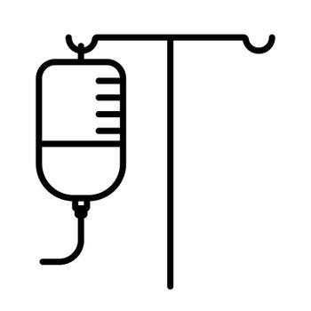 IV Stand vector icon. Medicine and healthcare, medical support sign. Graph symbol for medical web site and apps design, logo, app, UI