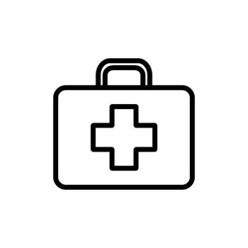 First aid kid vector icon. Medicine and healthcare, medical support sign. Graph symbol for medical web site and apps design, logo, app, UI