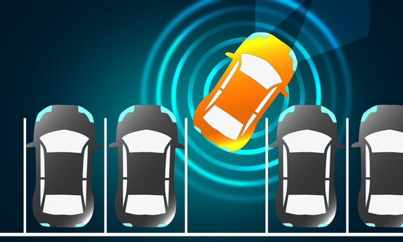 Automatically parks in the Parking lot with Parking Assist Syste