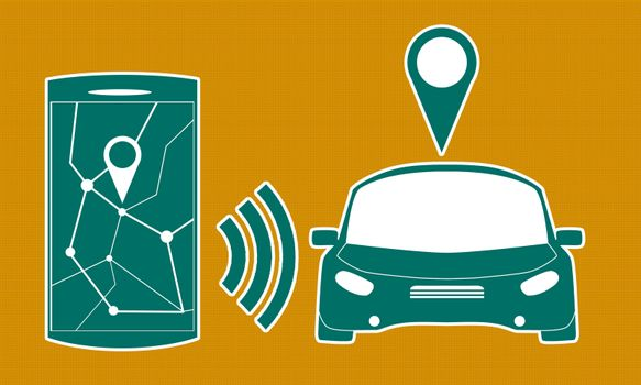 Connected car sharing service controlled via smartphone