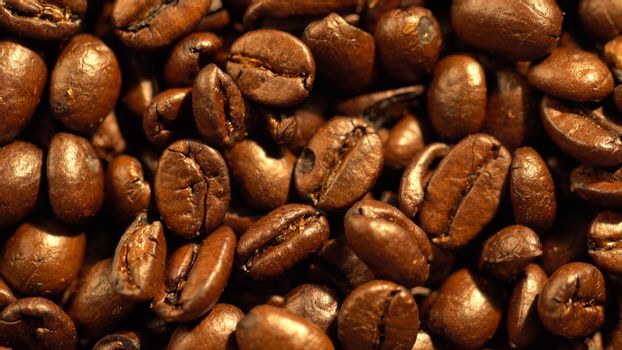 Close up of higgh Qaulity of coffee beans on top view