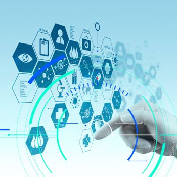 Accurate diagnosis appropriate treatment medical concept.Medicine doctor hand working with modern computer interface as medical concept