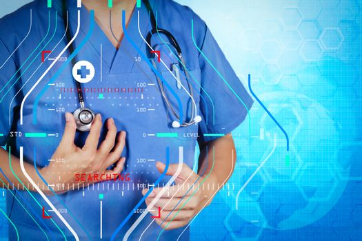 success smart medical doctor working as concept