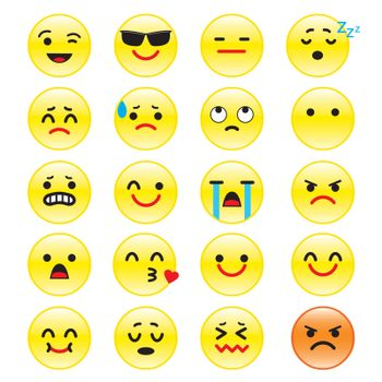 Set of Emotion and different smileys vector.
