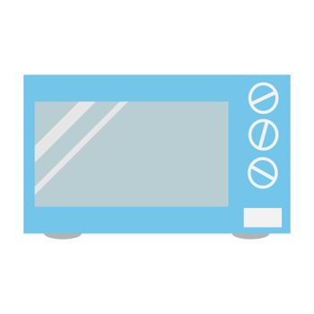 Flat style microwave. Home appliance icon. Vector