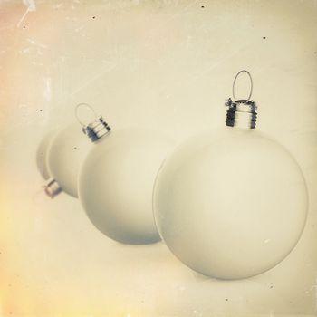 Christmas baubles elements