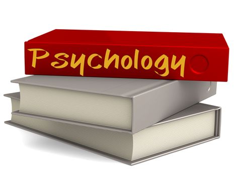 Hard cover red books with Psychology word