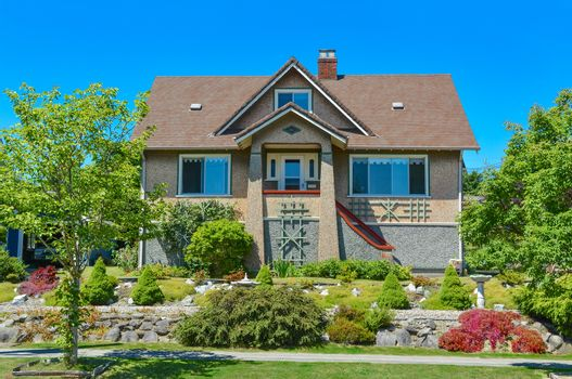 Average north american house in suburbs of Vancouver.