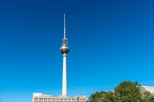 The famous Television Tower at the Alexanderplatz in Berlin, Germany